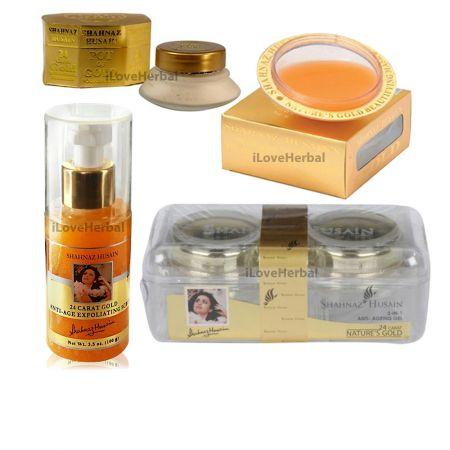 434951405 Shahnaz Husain Home use Shahnaz Husain Gold Facial Kit 4 Pack